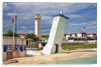 Puerto Morelos Lighthouses, Acrylic Print