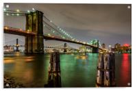 Brooklyn Bridge and Manhattan Bridge New York, Acrylic Print