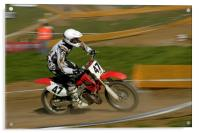 Speed - Motocross rider in action, Acrylic Print