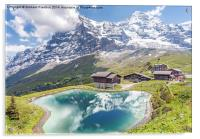 Eiger and Reflection in Alpine Lake, Acrylic Print