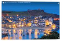 St Ives Harbour at dusk, Acrylic Print