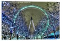 The London Eye at Night, Acrylic Print