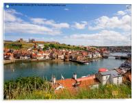 Whitby Harbour Summer, Acrylic Print
