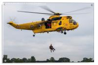 Sea King search & rescue demonstration, Acrylic Print