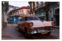 Early one morning in Centro Havana, Acrylic Print