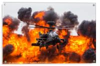 Army Air Corps WAH-64D Apache in front of a wall o, Acrylic Print
