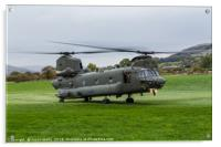 Royal Air Force CH-47-HC.6A Chinook helicopter, Acrylic Print