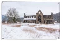 Tintern Abbey is the snow, Acrylic Print