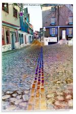 Elm Hill in Colour, Norwich , Acrylic Print