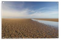 Into the distance at Holkham Norfolk , Acrylic Print