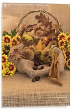 Autumn in a Basket, Acrylic Print