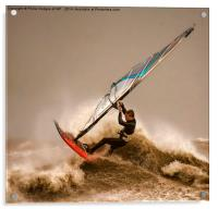 Windsurfing the Storm , Acrylic Print