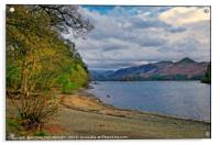 """Evening light at Derwent Water "", Acrylic Print"