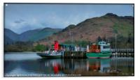 """Reflections at Ullswater Jetty"", Acrylic Print"