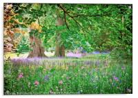 """Spring flowers at Thorp Perrow"", Acrylic Print"