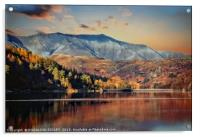 """Autumn evening Blencathra"", Acrylic Print"