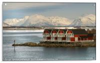 """""""Blue hour at Stokmarknes NorwaY"""", Acrylic Print"""