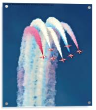 Red Arrows Display Team., Acrylic Print