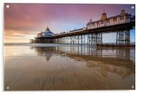 Reflections at sunrise (Eastbourne Pier), Acrylic Print