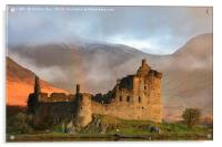 Morning light on Kilchurn Castle, Acrylic Print