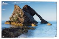 Evening light on Bowfiddle Rock, Acrylic Print