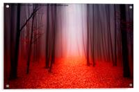 The Red Forest, Acrylic Print