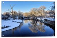 River Etherow in winter, Acrylic Print