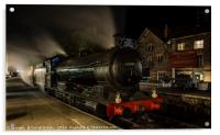 63395 evening pullman diner at Grosmont station, Acrylic Print