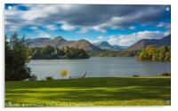 Derwent Water and Catbells View, Acrylic Print