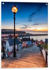 A Mid Summer Sunset Over Whitby Steps, Acrylic Print