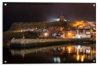 Whitby Harbour Reflections, Acrylic Print