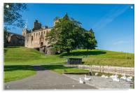 Linlithgow town and castle, Acrylic Print