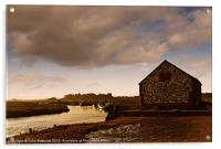 The Coal Barn at Thornham Creek, Acrylic Print