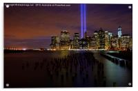 9/11 Tribute in Light from Brooklyn, Acrylic Print