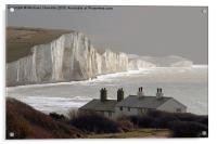 The Coastguard Cottages at Cuckmere Haven, E Suss, Acrylic Print