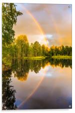 Rainbows: The gift from heaven to us all, Acrylic Print