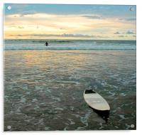 Playa Tamarindo, Costa Rica,  Surf and Sunset, Acrylic Print
