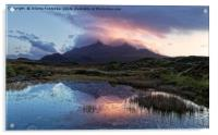 Sunset over Cuillins, Acrylic Print