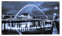 The Millennium Bridge all in Blue, Acrylic Print