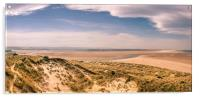 Panoramic from Budle Dunes, Acrylic Print