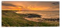 Dreamy sunset at Bamburgh beach , Acrylic Print