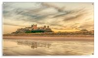 Glorious Bamburgh Castle , Acrylic Print