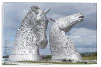 The new visitor centre at the Kelpies in Helix Par, Acrylic Print