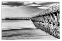 Blyth south pier, Acrylic Print
