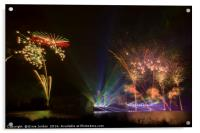 Fireworks 2014 at Leeds Castle. 1 of 5, Acrylic Print