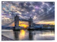 Tower bridge of london, Acrylic Print