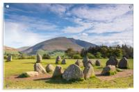 Blencathra from Castlerigg Stone Circle, Acrylic Print