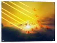 The wonderful Red Arrows, Acrylic Print