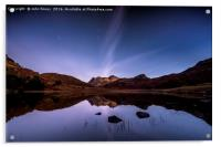Blea Tarn star trails, Lake District, Acrylic Print