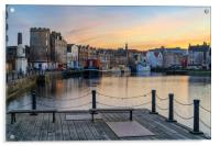Pastel coliurs at the Shore, Leith, Acrylic Print